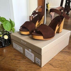 MADEWELL Wood-heel platform Sandals - size 8.5